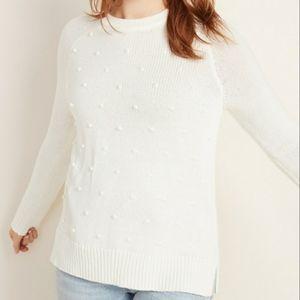 Rib-Knit Crewneck Sweater
